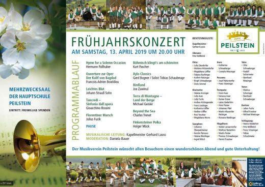 Programm Frühjahrskonzert