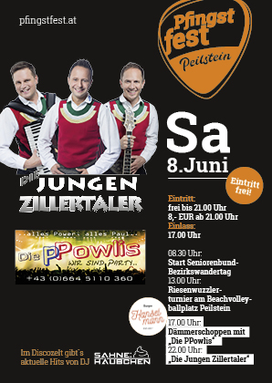 Programm Pfingstfest Samstag