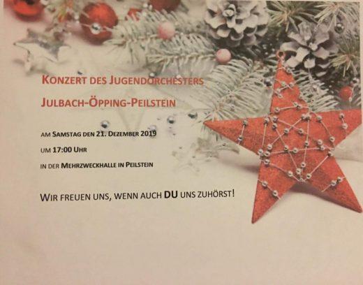 Einladung Konzert Jugendorchester